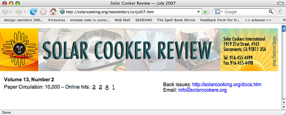 Solar Cooker Review